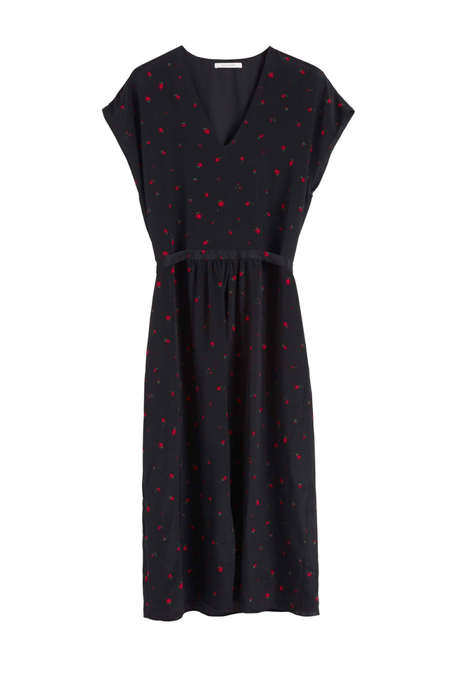 Black Strawberry Field Silk Dress image 2