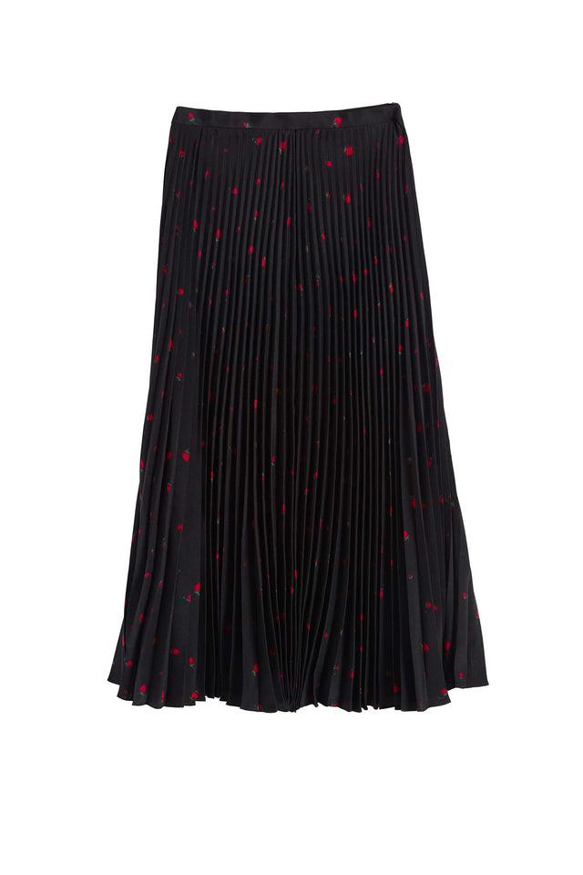 Black Silk Strawberry Fields Skirt image 2