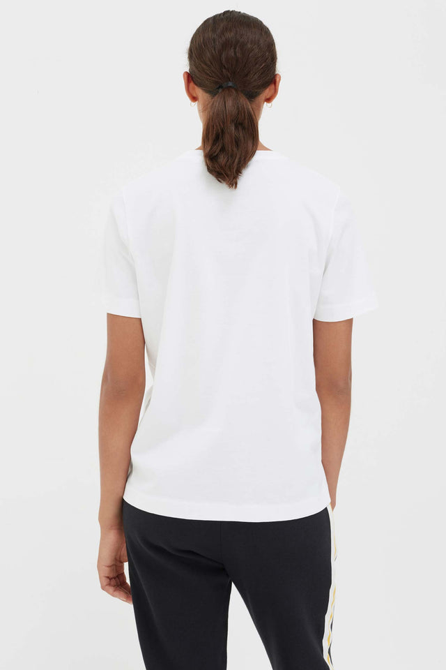White Cotton Forget Me Not T-Shirt image 5