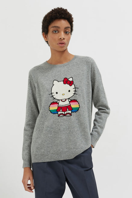 Grey Hello Kitty Cheerleader Sweater