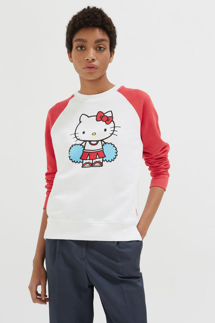 Cream Hello Kitty Cheerleader Sweatshirt