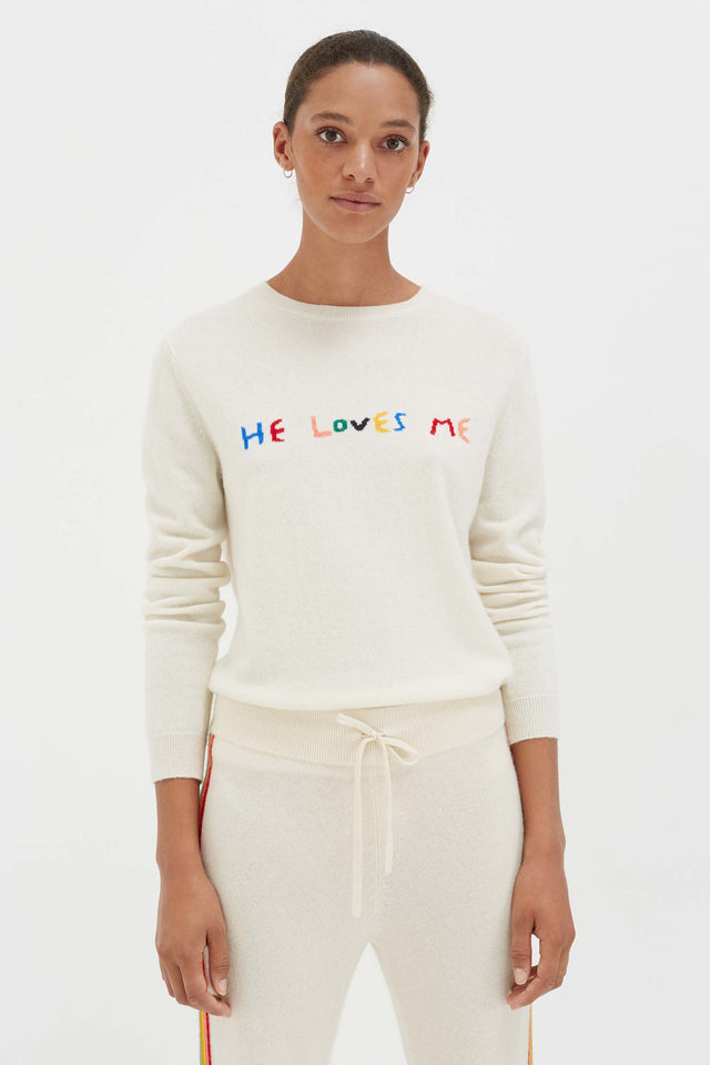 Cream Cashmere He Loves Me Sweater image 3