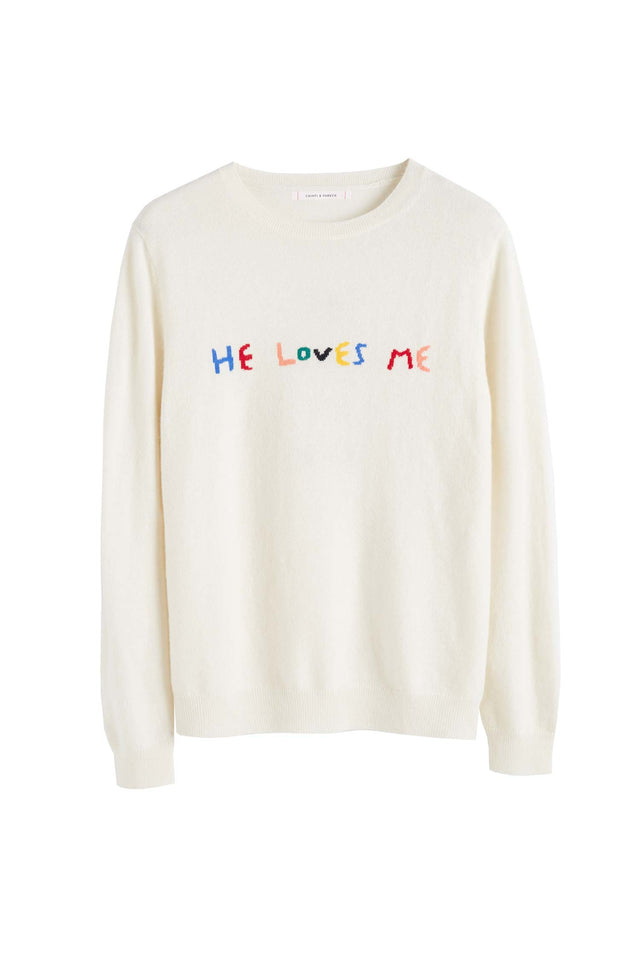 Cream Cashmere He Loves Me Sweater image 2