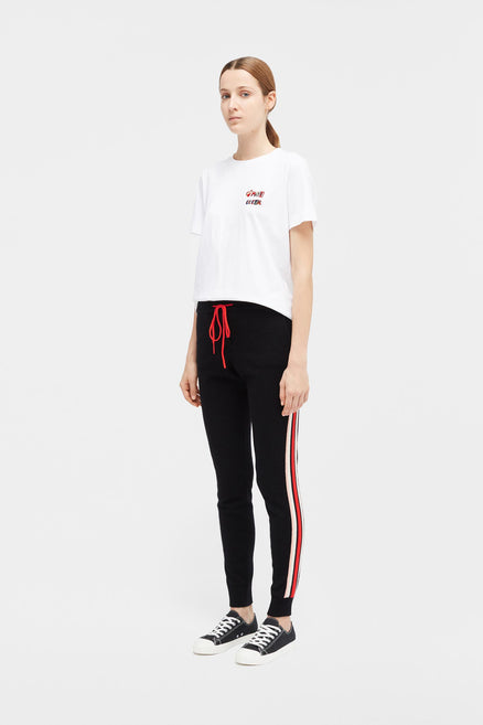 Black Jalisco Stripe Track Pants