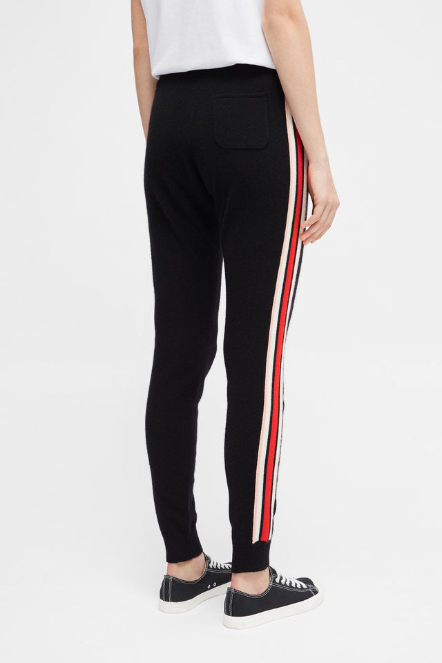 Black Jalisco Stripe Track Pants image 3