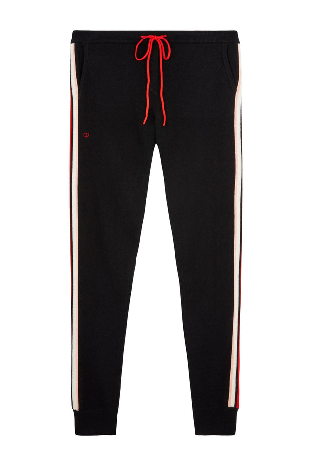 Black Jalisco Stripe Track Pants image 2