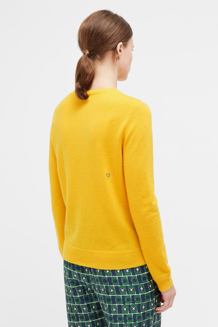 Yellow Jewelled Horse Cashmere Sweater