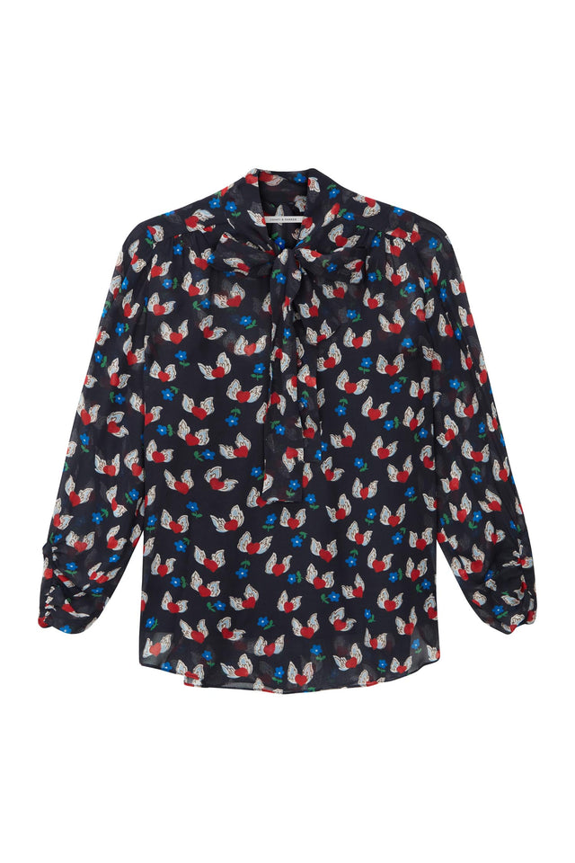 Navy Juliet Blouse image 2