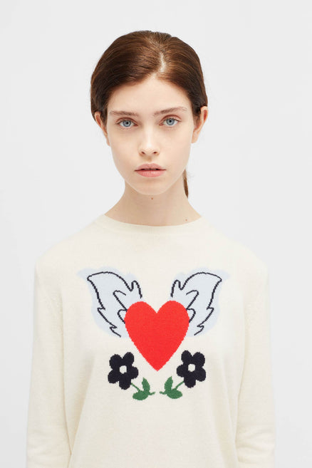 Navy Juliet Heart sweater