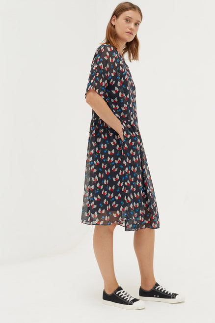 Navy Juliet Tea Dress