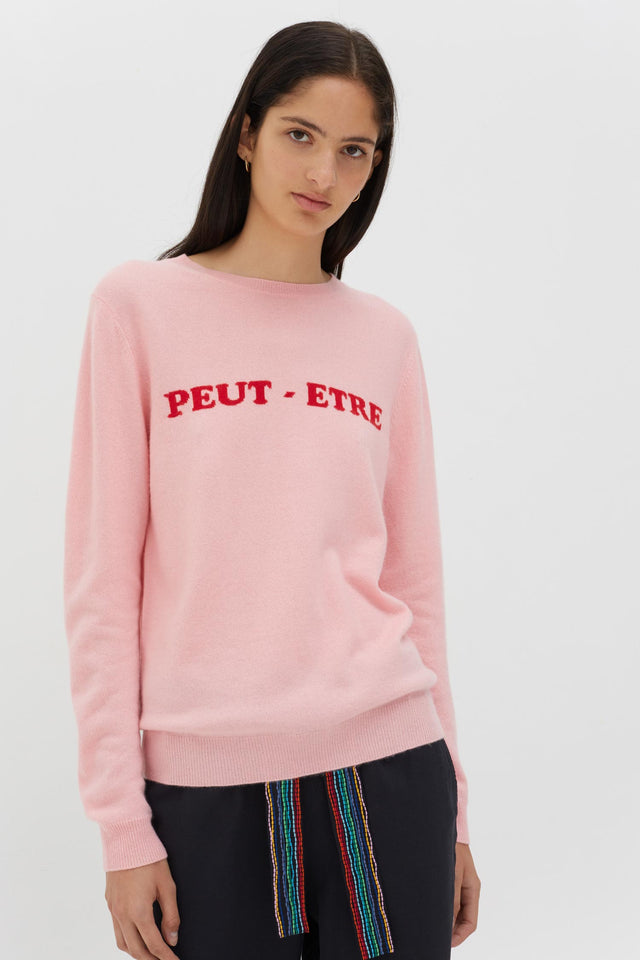 Pink Peut-Etre Cashmere Sweater image 1