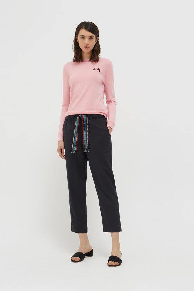 Pink Cashmere Rainbow Badge Sweater image 4