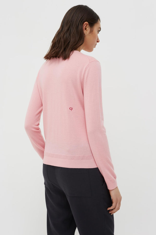 Pink Cashmere Rainbow Badge Sweater image 5