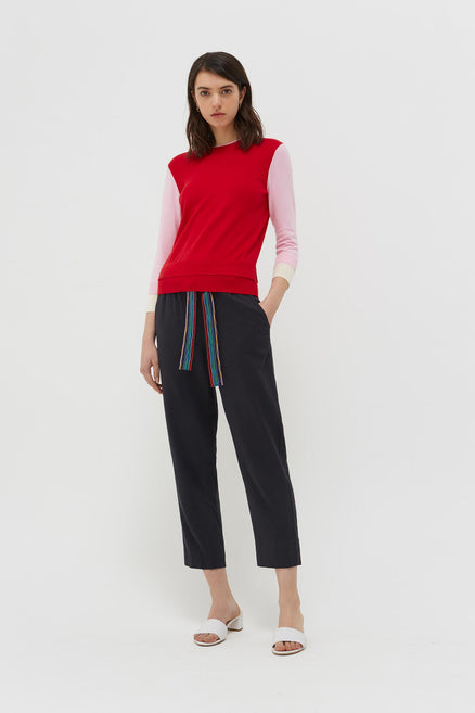 Red Cotton Margaret Sweater