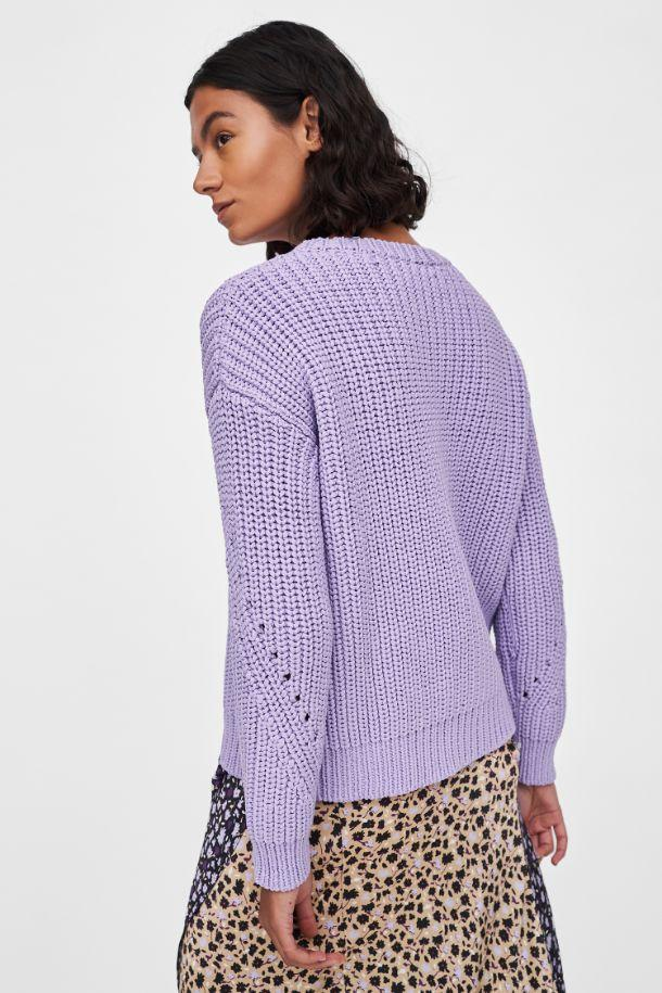 Lilac Le Soir Cotton-Blend Sweater image 2