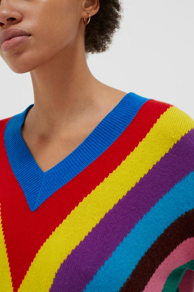 Multicolour Virginia Striped Wool-Cashmere Sweater image 6