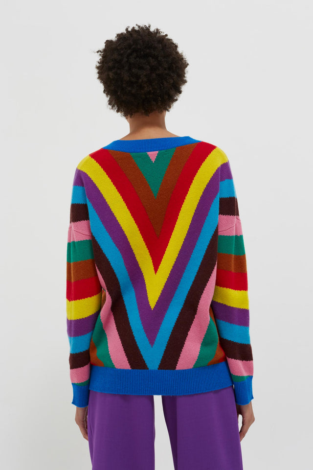 Multicolour Virginia Striped Wool-Cashmere Sweater image 5