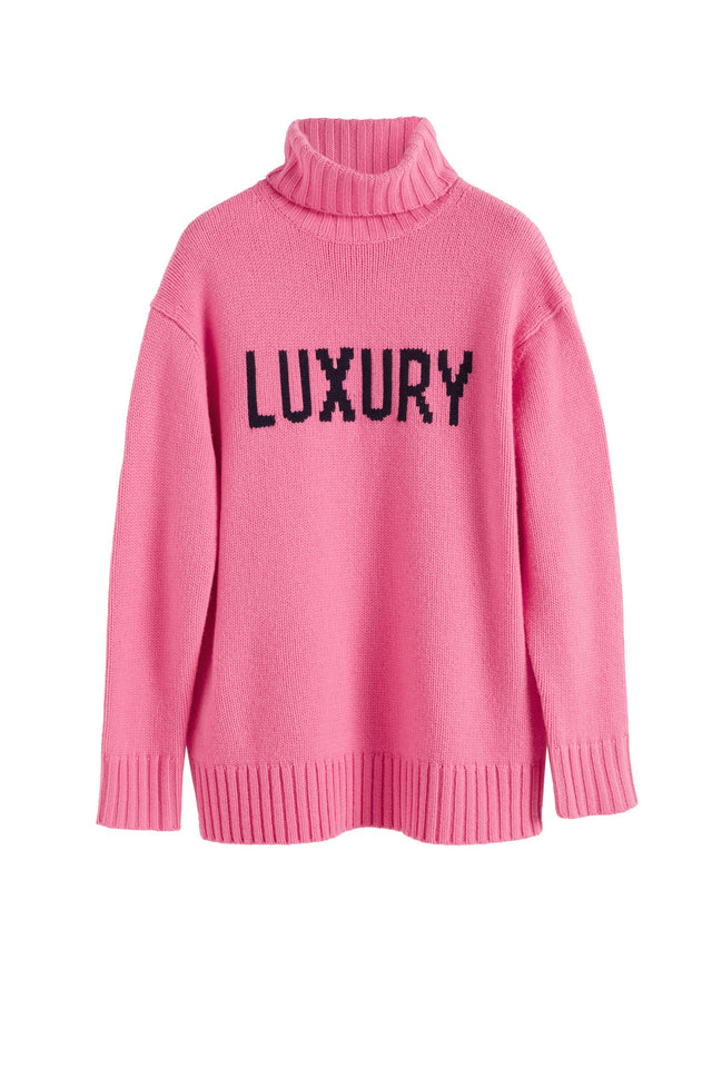 Pink Luxury Cashmere Rollneck Sweater image 2