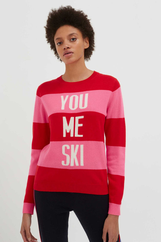 Red You Me Ski Wool-Cashmere Sweater image 3