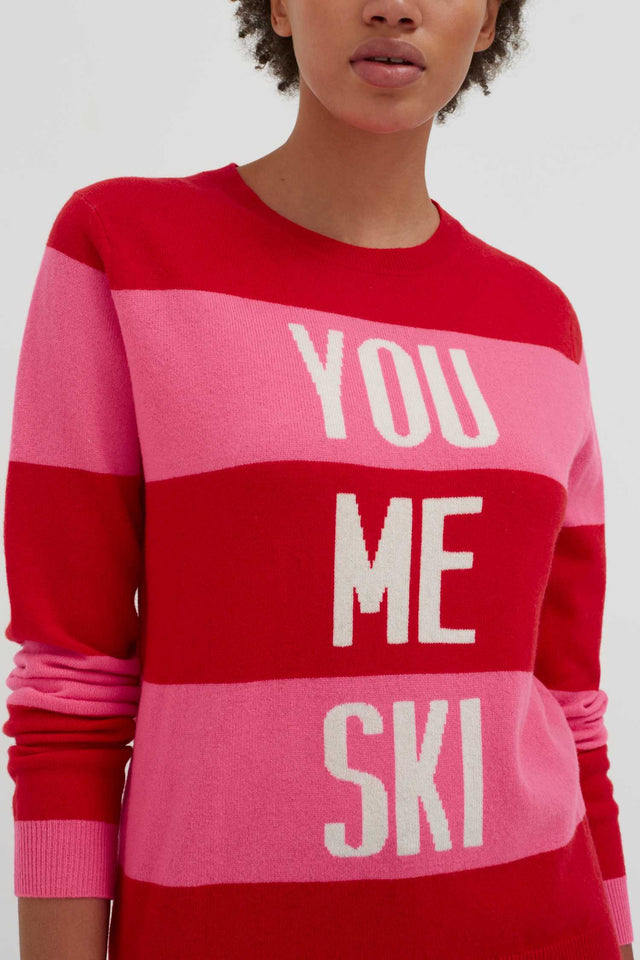 Red You Me Ski Wool-Cashmere Sweater image 6
