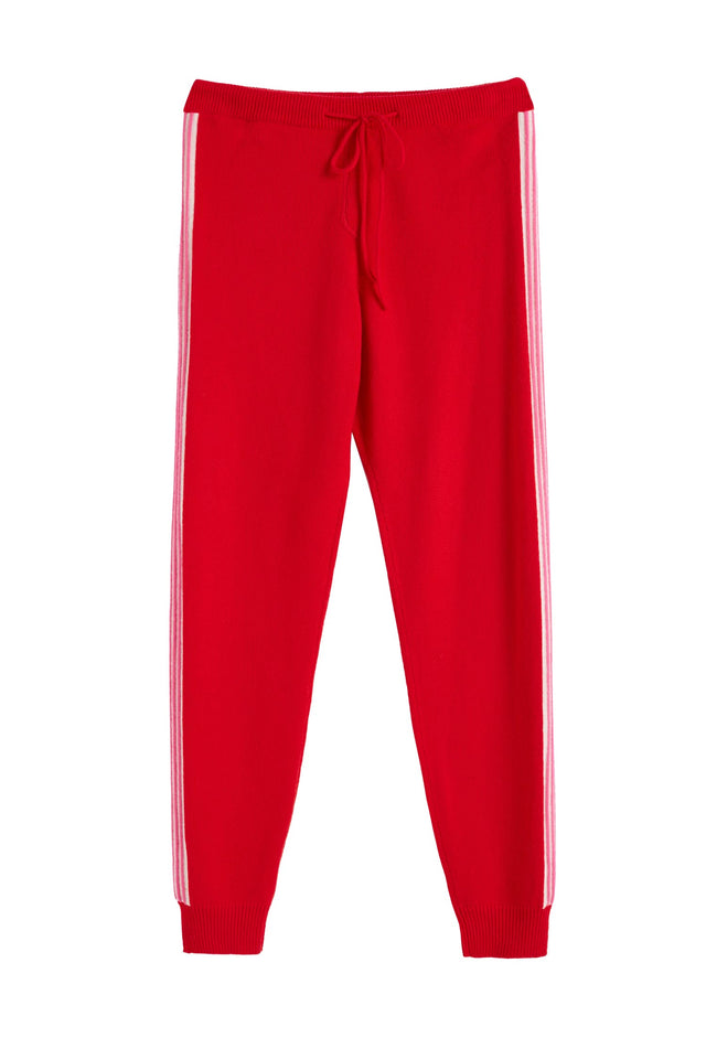 Red Ripple Wool-Cashmere Track Pants image 2