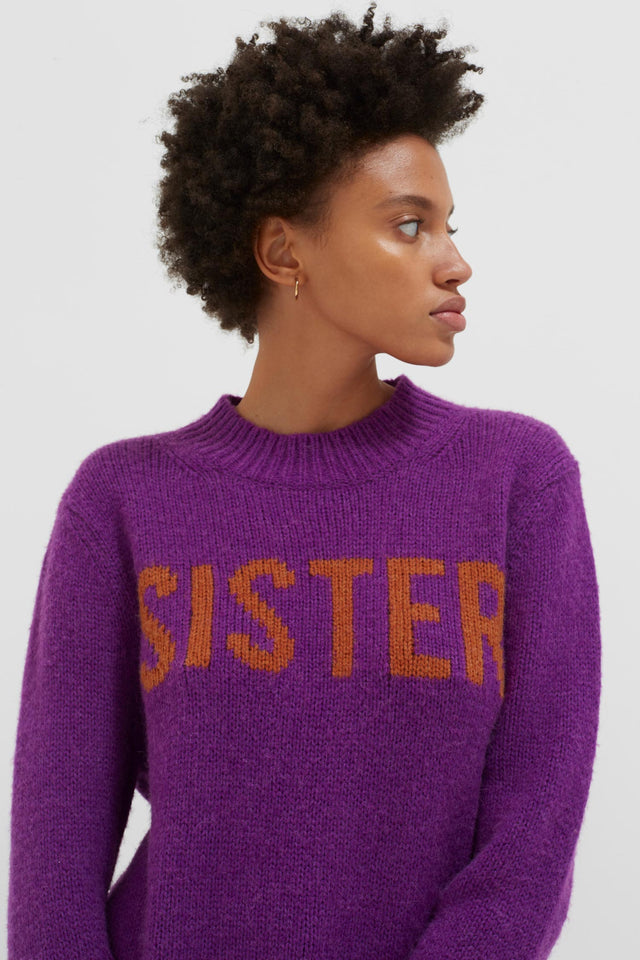 Purple Sister Alpaca-Wool Sweater image 1