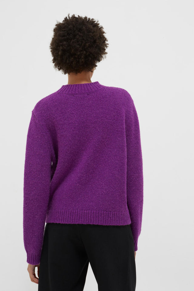Purple Sister Alpaca-Wool Sweater image 5