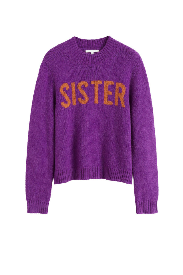 Purple Sister Alpaca-Wool Sweater image 2