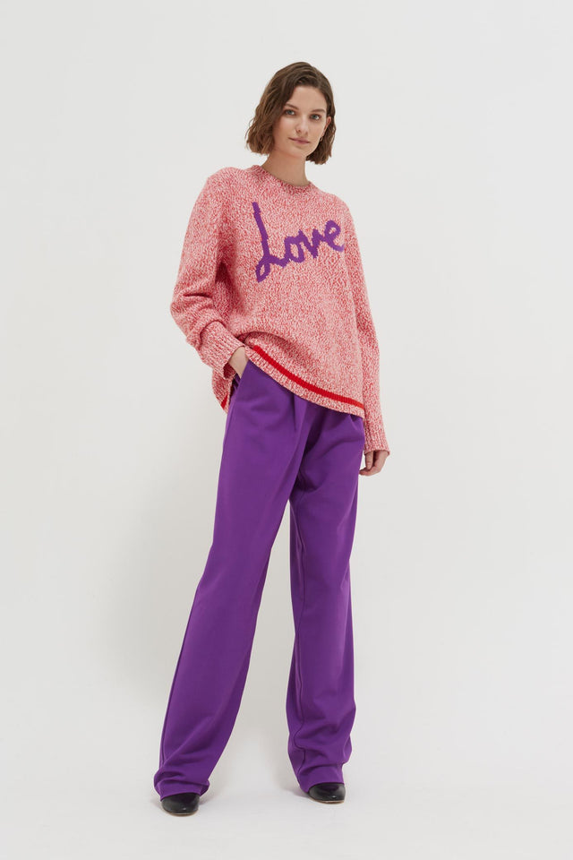 Pink Dalloway Love Merino Wool Sweater image 3