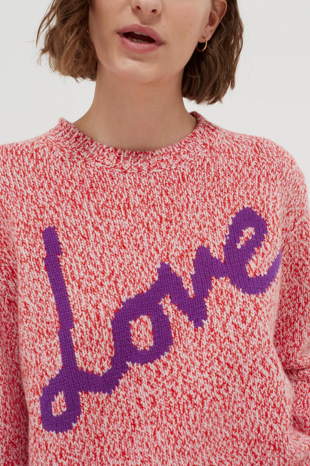 Pink Dalloway Love Merino Wool Sweater image 5