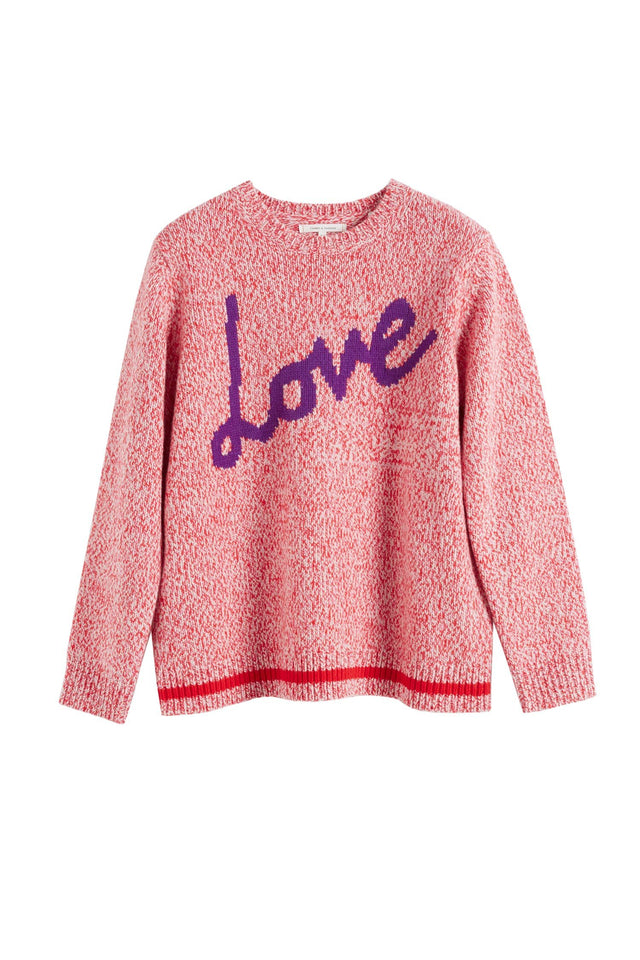 Pink Dalloway Love Merino Wool Sweater image 2