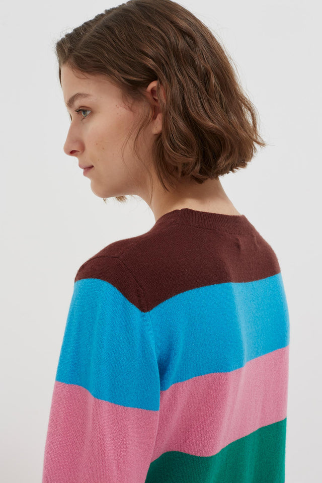Multicolour Oneself Striped Cashmere Sweater image 5