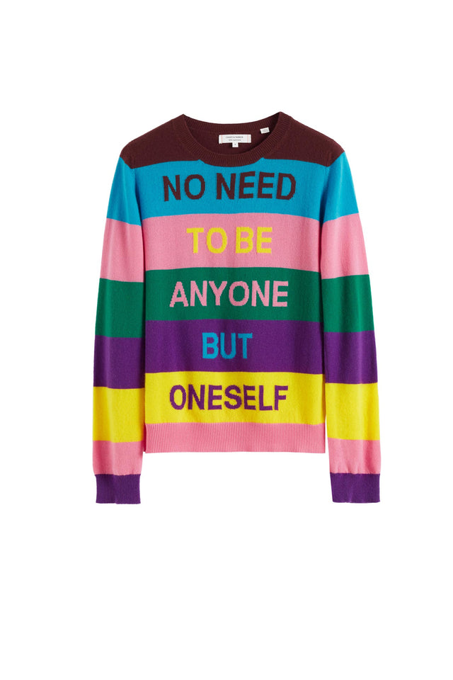 Multicolour Oneself Striped Cashmere Sweater image 2