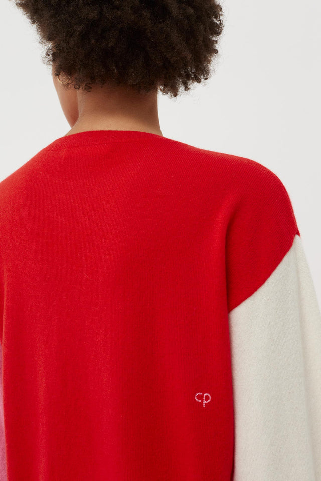 Red Cross Hem Cashmere Sweater image 5
