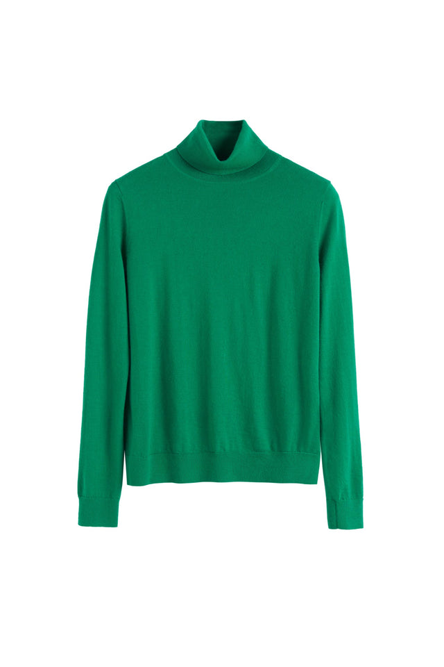 Green Rollneck Cashmere Pop Sweater image 2