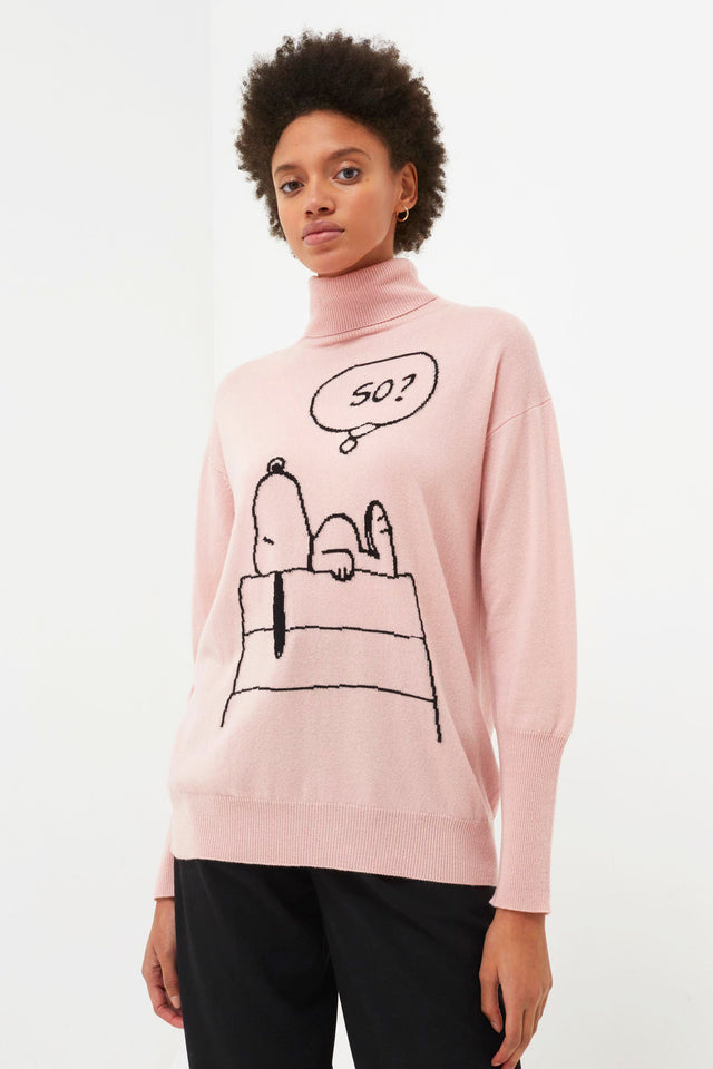 Pink Snoopy So? Cashmere Sweater image 1