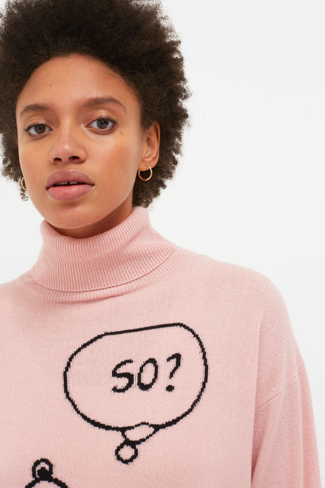 Pink Snoopy So? Cashmere Sweater image 4