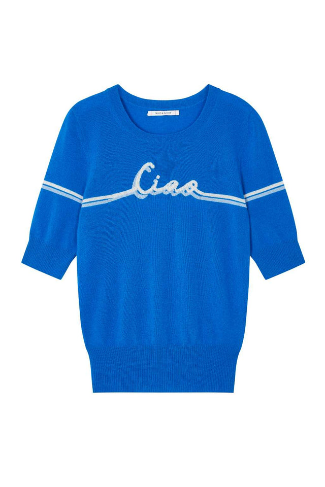 Royal-Blue Ciao Cashmere Tee image 2
