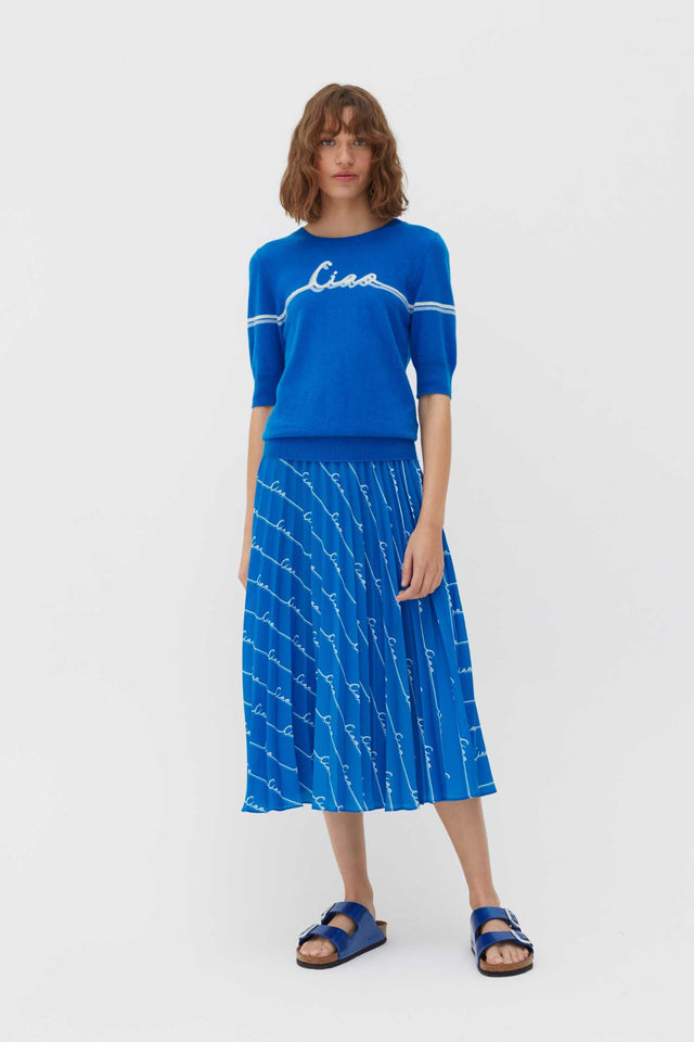 Royal-Blue Ciao Cashmere Tee image 3