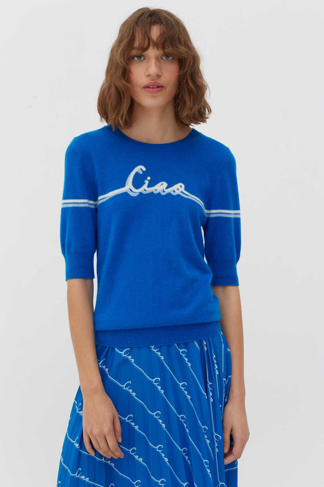 Royal-Blue Ciao Cashmere Tee image 1
