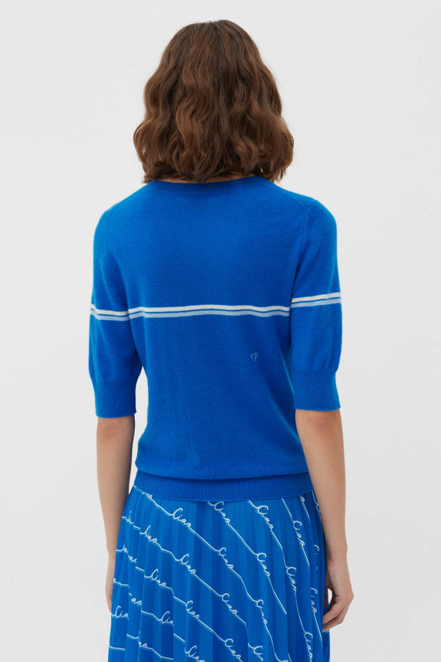 Royal-Blue Ciao Cashmere Tee image 5