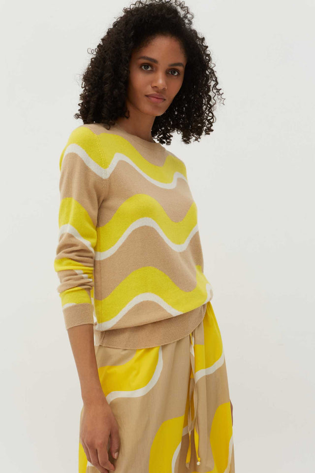 Biscotti Wave Cashmere Sweater image 1