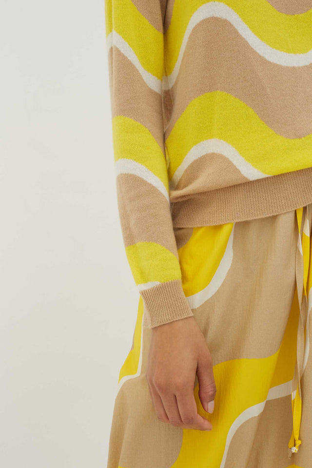 Biscotti Wave Cashmere Sweater image 3