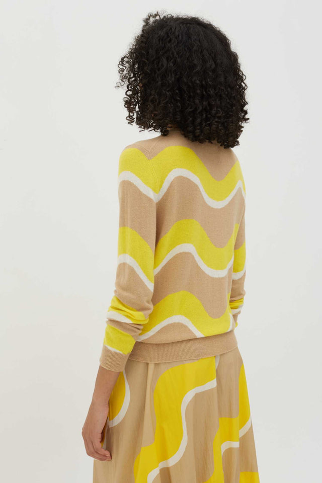 Biscotti Wave Cashmere Sweater image 2