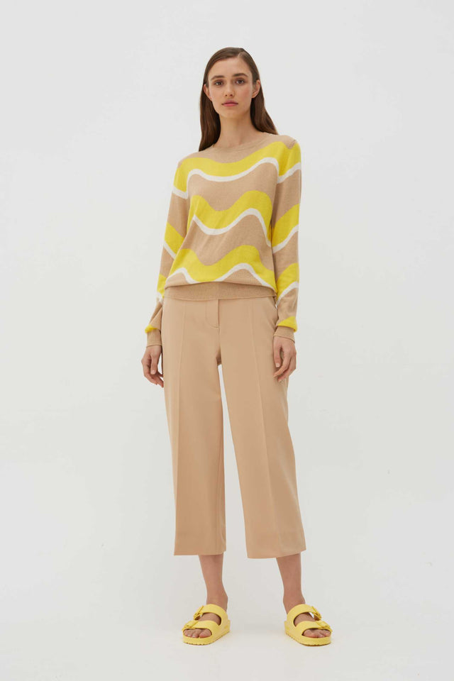 Biscotti Wave Cashmere Sweater image 8