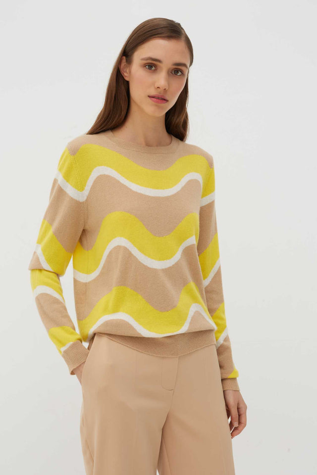 Biscotti Wave Cashmere Sweater image 7