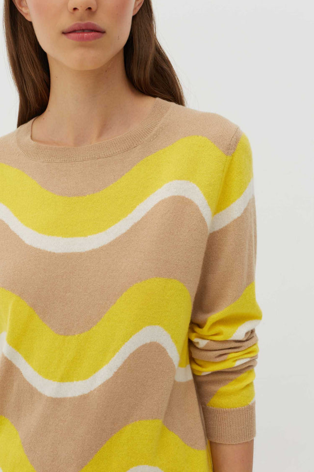 Biscotti Wave Cashmere Sweater image 6