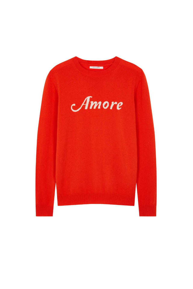 Vermillion Amore Wool-Cashmere Sweater image 2