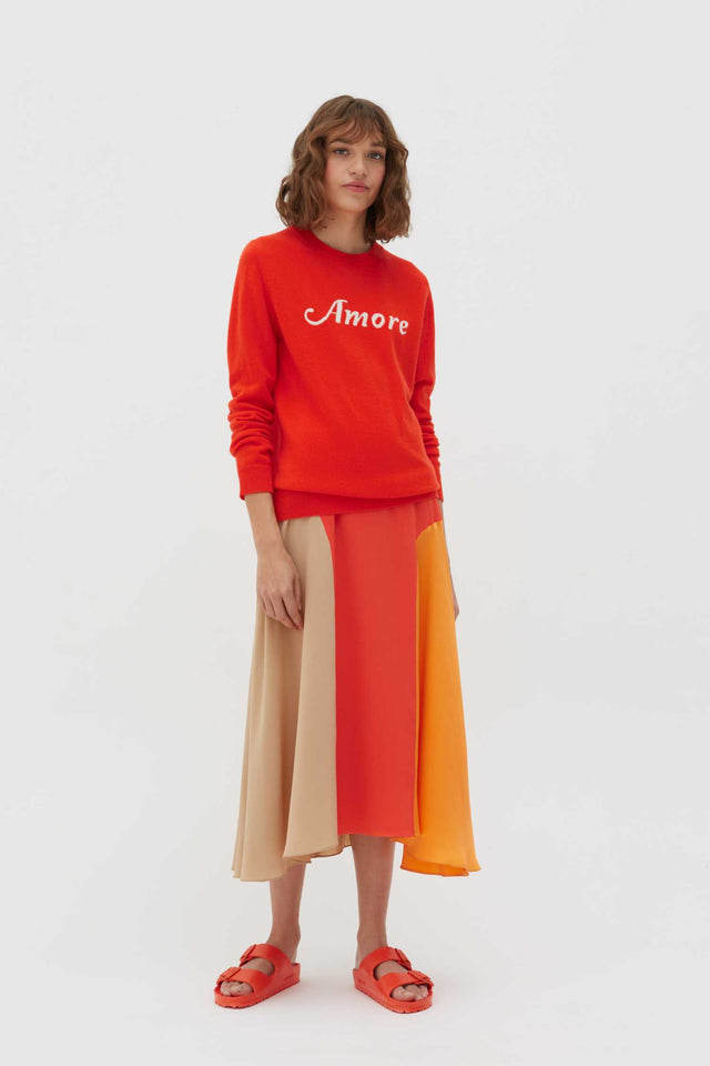 Vermillion Amore Wool-Cashmere Sweater image 3