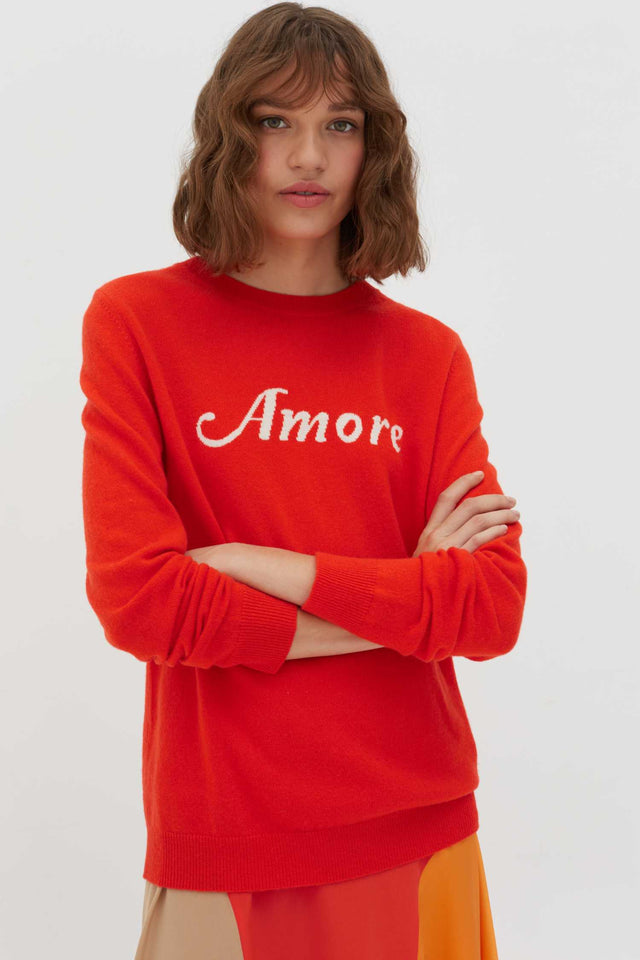 Vermillion Amore Wool-Cashmere Sweater image 1